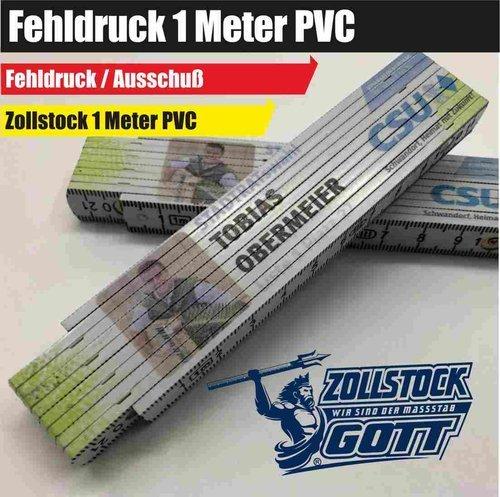 1 Meter PVC Zollstock und Meterstäbe mit Fehldruck günstig kaufen