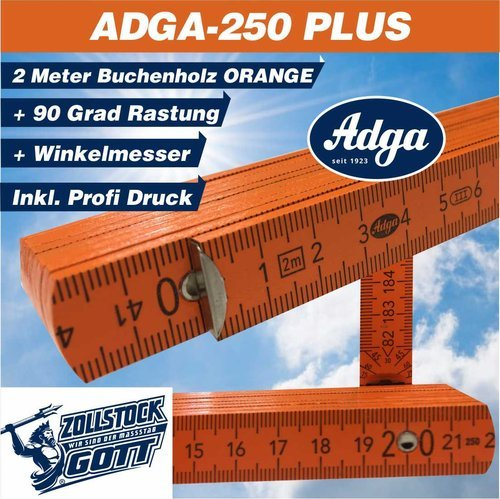 ADGA 250 PLUS ORANGE inkl. Profidruck Logo, Texte, Motive