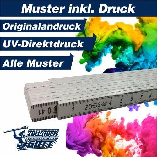 Zollstock online bedrucken - Meterstab gestalten - Musterandruck