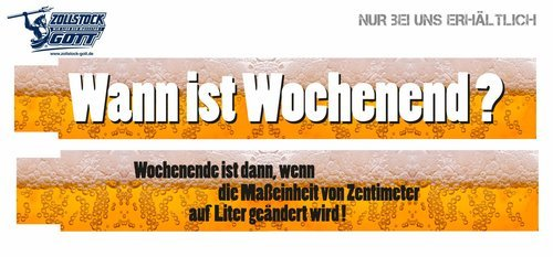 Zollstock online bedrucken - Meterstab gestalten - Bier Zollstock Biermotiv