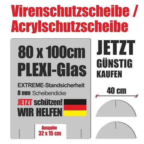 Viren Plexiglas Schutzscheibe für Verkaufsplätze Apotheken oder Arztpraxen