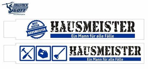 Hausmeister Zollstock, Hausmeister Meterstab, Hausmeister Gliedermassstab