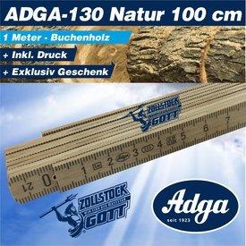 Zollstock (ADGA -130) NATUR Buchenholz / 1 Meter Länge 100cm incl. Druck in Profiqualität
