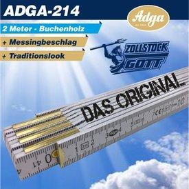 Zollstock (ADGA-214) Buchenholz 2 Meter / Das Original bedruckt im Digitaldruck