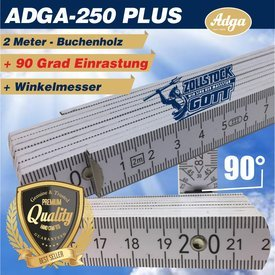 Zollstock online bedrucken - Meterstab gestalten Winkeleindruck Gradmesser