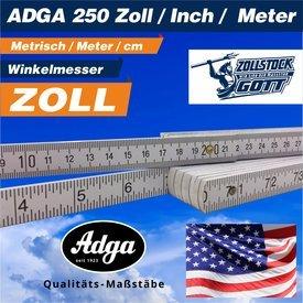 Zollstock (ADGA-250) Zoll / Inch und metrisch / incl. UV-Digitaldirektdruck