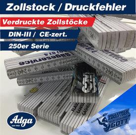 Zollstock und Meterstäbe mit Fehldruck günstig kaufen