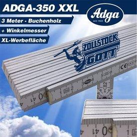 Zollstock (Adga 350) 3 Meter mit Winkeleindruck im 1. Gelenk inkl, Druck